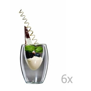 Sada 6 veľkých pohárov bloomix Ovo