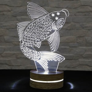 3D stolová lampa Big Fish
