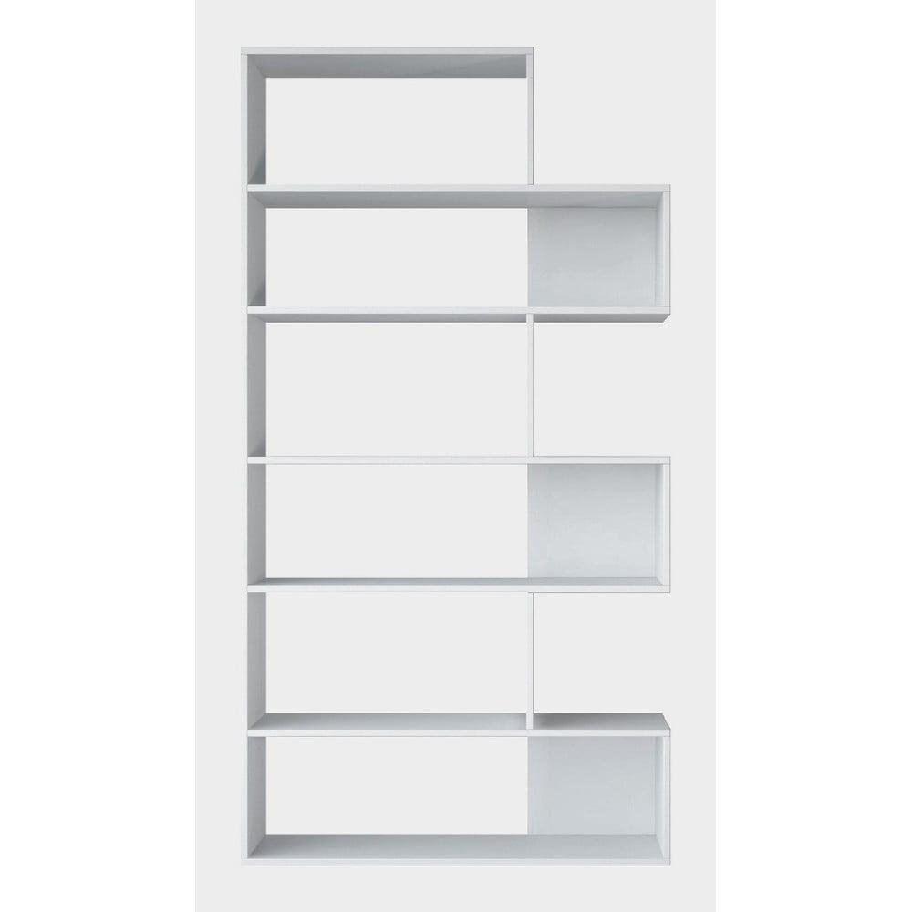 Biela knižnica Twinnie White, výška 179 cm