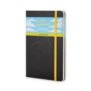 Čierny zápisník Moleskine The Simpsons, veľký