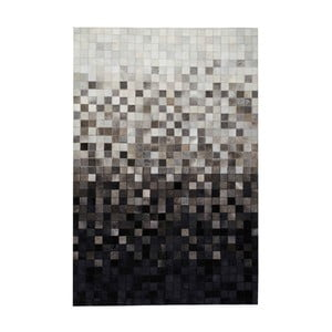 Koberec z pravej kože Sao Paulo Black, 70x140 cm