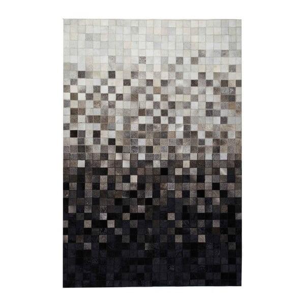 Koberec z pravej kože Sao Paulo Black, 140x200cm