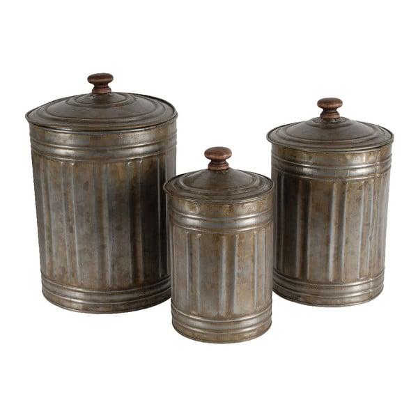 Sada 3 zinkových dóz s vekom Antic Line Vintage