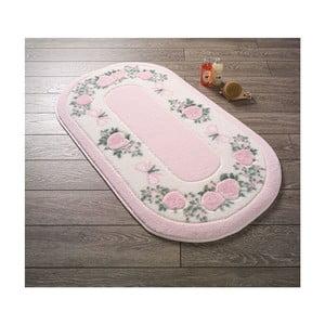 Kúpeľňová predložka Confetti Bathmats Rose Frame Pink, 50 x 57 cm
