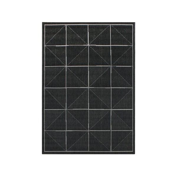 Koberec vhodný aj do exteriéru Patio Charcoal Check, 80x150 cm