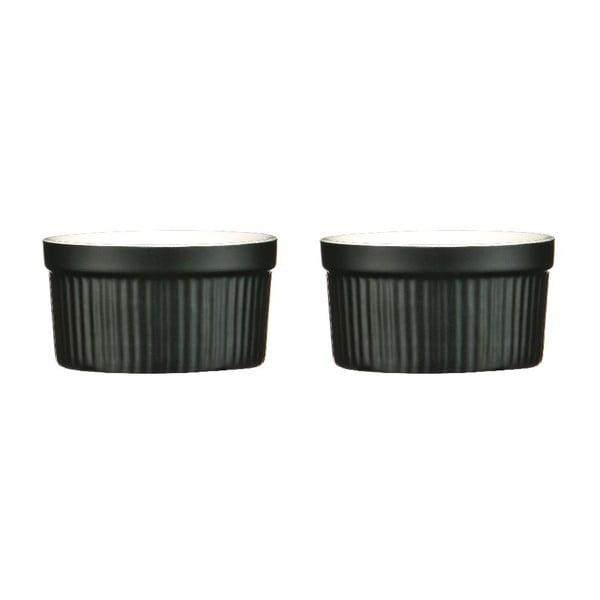 Set 2 zapekacích misiek Black Stoneware