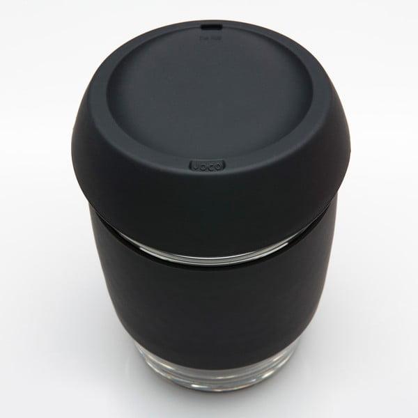 Eko hrnček na kávu Joco Cup 340 ml, čierny