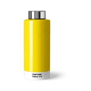 Žltá fľaša z antikoro ocele Pantone, 630 ml
