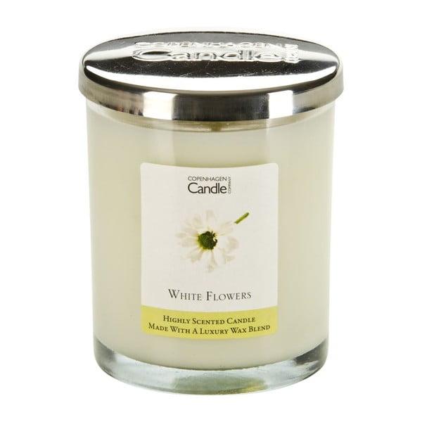 Aromatická sviečka Copenhagen Candles White Flowers, doba horenia 40hodín