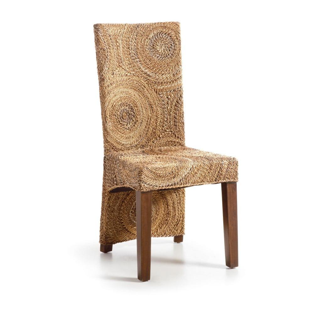 Ratanová stolička s drevenou konštrukciou Moycor Banana Circles
