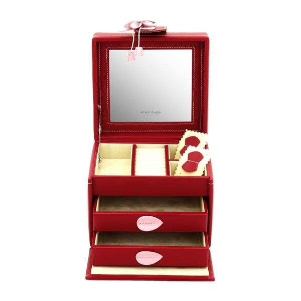 Šperkovnica Amira Red, 14,5x13,5x12 cm