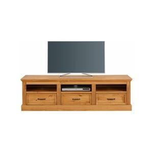 Hnedý TV  stolík z masívneho borovicového dreva Støraa Suzie