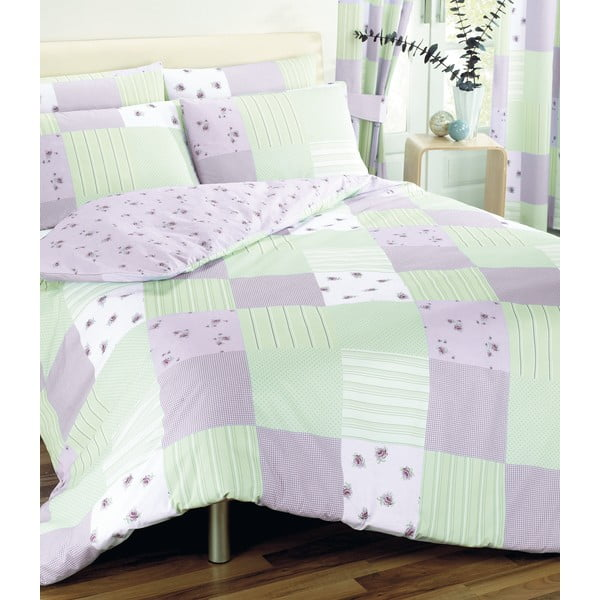 Obliečky Patchwork Lilac, 135x200 cm