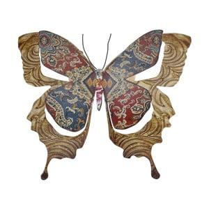 Kovový motýľ na stenu Copper, 29 cm