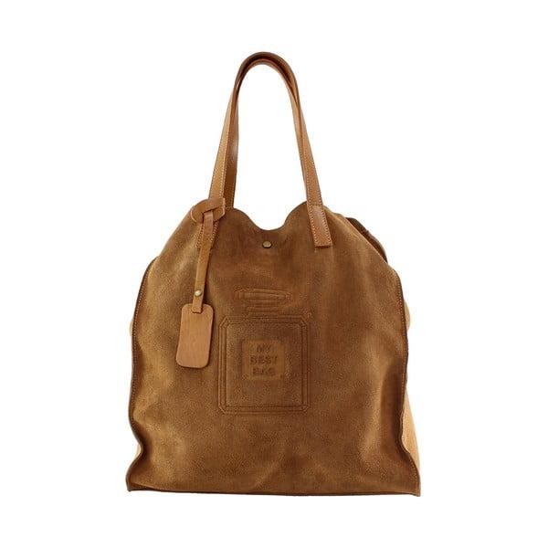 Kožená kabelka Perfume, hnedá