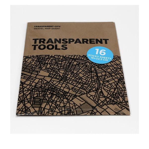 Náhradné priehľadné listy pre Transparent City mapy Palomar