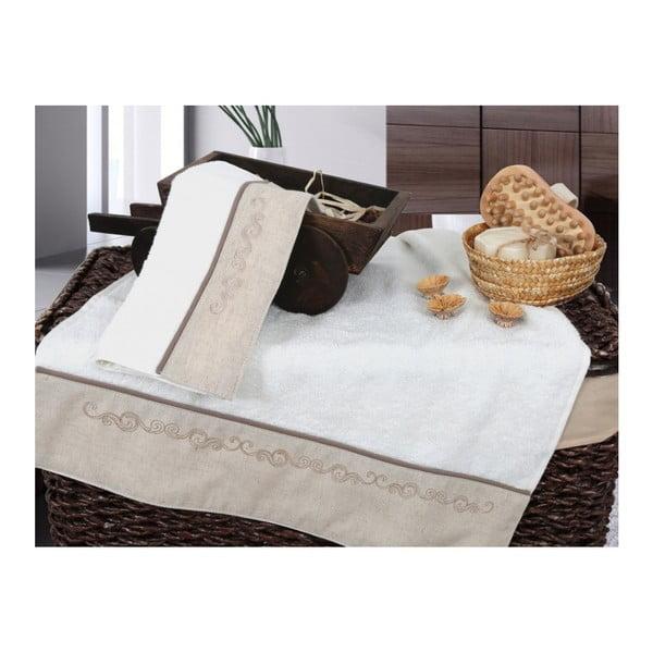 Set  vanilkovej osušky a uteráku Irya Home Spa, 30x50 cm a 50x90 cm