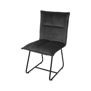 Sivá jedálenská stolička so zamatovým poťahom HSM collection Estelle