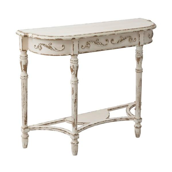 Zaguľatený konzolový stolík Lyon, 107 cm