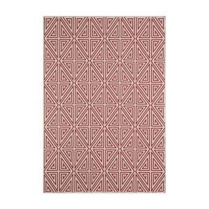Červený koberec Nourison Baja Apuri, 170×119cm