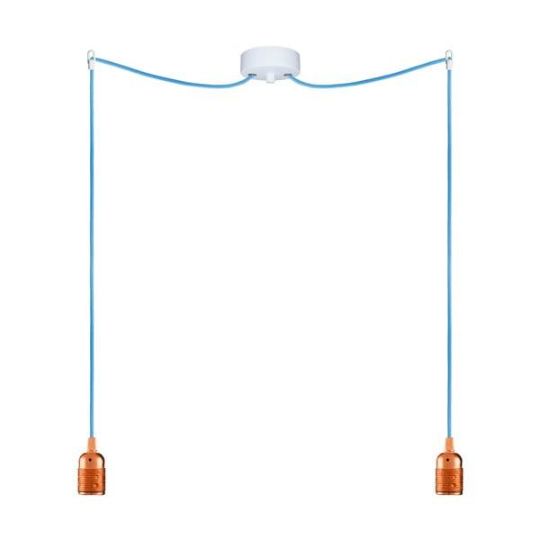 Dva závesné káble Uno, medená/modrá