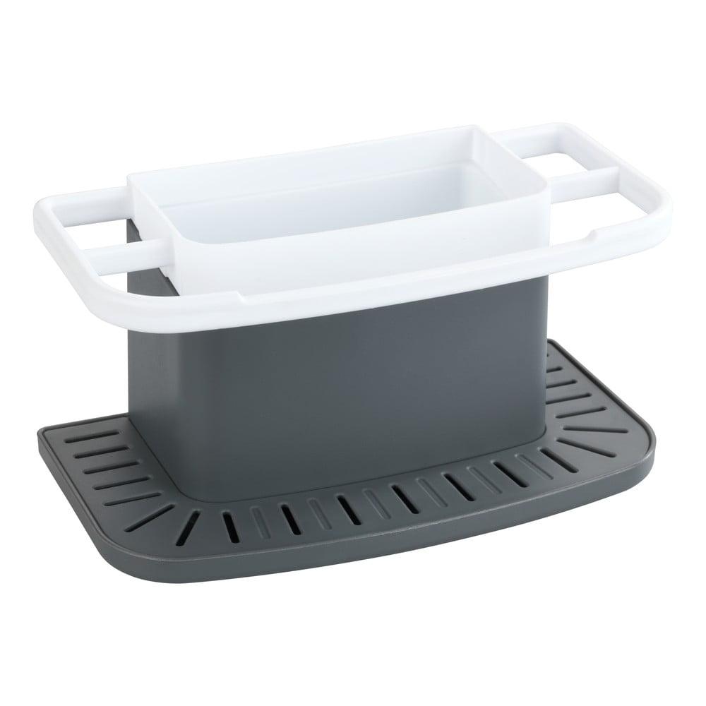 Sivý stojanček na umývacie potreby Wenko Cosmo