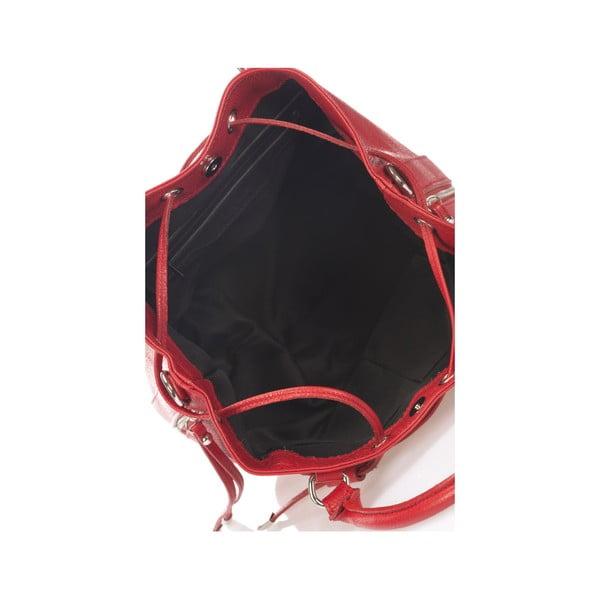 Kožená kabelka Krole Kenna, červená