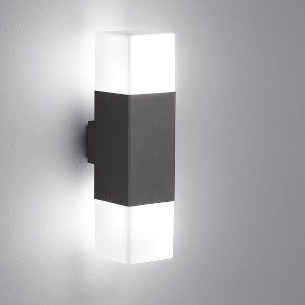 Záhradné nástenné svetlo Hudson Antracit, 33 cm