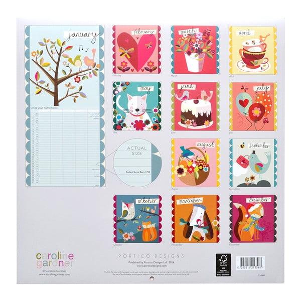 Rodinný kalendár Portico Designs Muchly Lovely