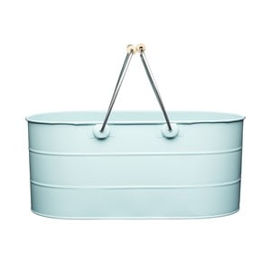 Košík na drevo Kitchencraft Living Nostalgia, modrý