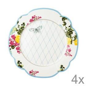 Porcelánový tanier Florence od Lisbeth Dahl, 24 cm, 4 ks