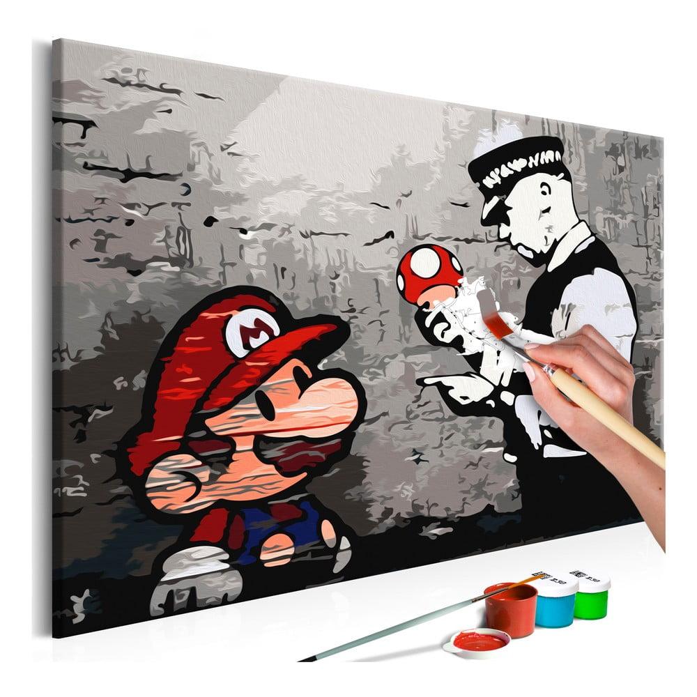 DIY set na tvorbu vlastného obrazu na plátne Artgeist Mario, 60 × 40 cm