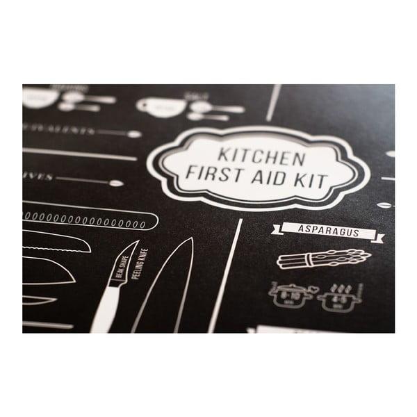 Plagát Follygraph Kitchen First Aid, 42x59,4cm