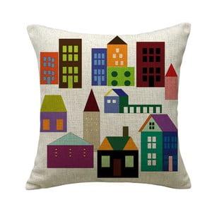 Vankúš Colorful Houses, 45x45 cm