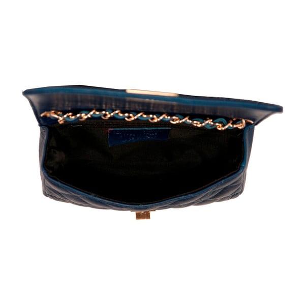 Tmavomodrá kabelka z pravej kože Andrea Cardone Elena