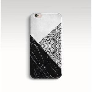 Obal na telefón Marble Mandala Black pre iPhone 6/6S