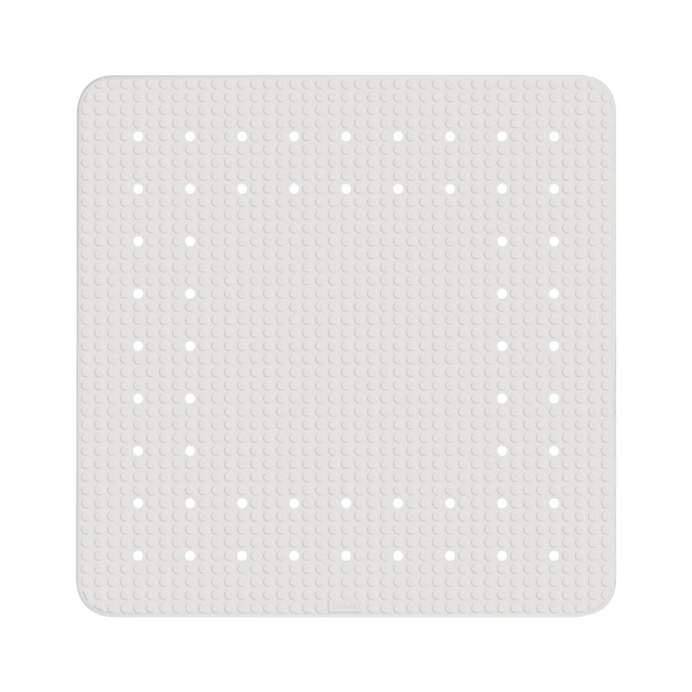 Biela protišmyková kúpeľňová podložka Wenko Mirasol, 54 × 54 cm