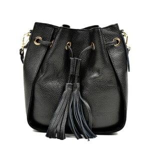 Čierna kožená kabelka Carla Ferreri Jessie