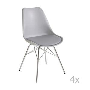 Sada 4 sivých jedálnych stoličiek 13Casa Brigitte