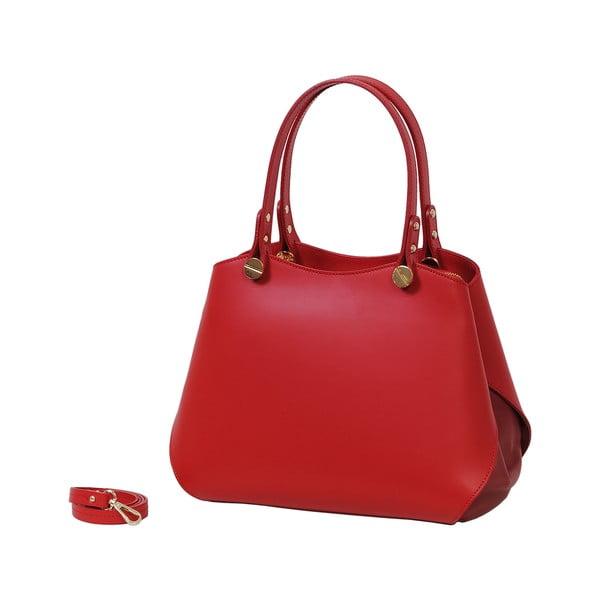Červená kabelka z pravej kože Andrea Cardone Sante