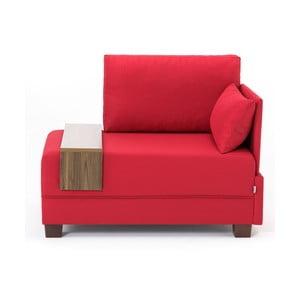 Červené kreslo s opierkou na ruky na pravej strane a odkladacou doskou Balcab Home Martha