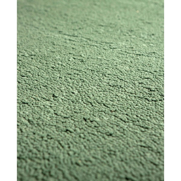 Vlnený koberec Pradera, 90x160 cm, zelený