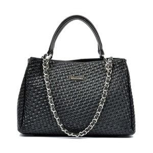 Čierna kožená kabelka Renata Corsi Ashley Mento