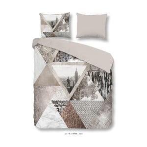 Bavlnené obliečky na dvojlôžko Good Morning Emme Sand, 200×240 cm