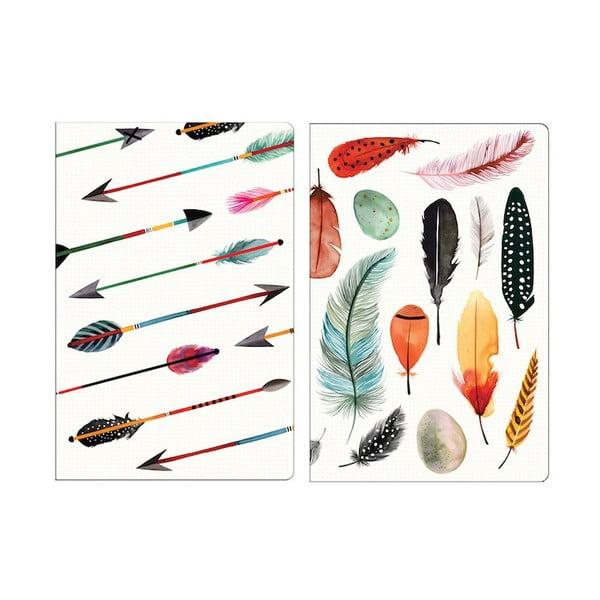 Mini zápisníky Galison Mudpuppy Arrows & Feathers