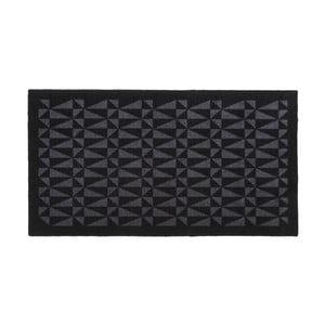 Čierno-sivá rohožka Tica Copenhagen Graphic, 67 x 120 cm