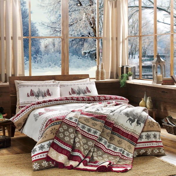 Obliečky s plachtou Snow, 160x220cm