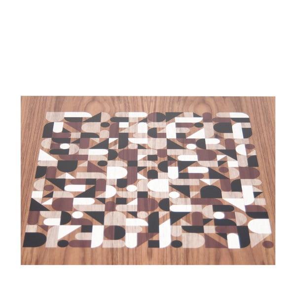 Odkladací stolík s doskou v dekóre orechového dreva TemaHome Metrics
