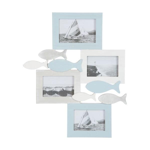 Fotorámček na 4 fotografie Fish Blue, 40x49 cm