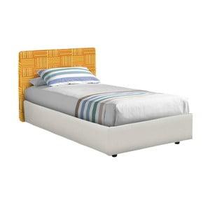 Bielo-oranžová jednolôžková posteľ 13Casa Ninfea, 80 x 190 cm